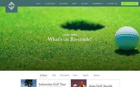 Screenshot of Press Page riverside-golf.com - Tropical Golf Site in Indonesia | Riverside Golf Club - captured June 29, 2018