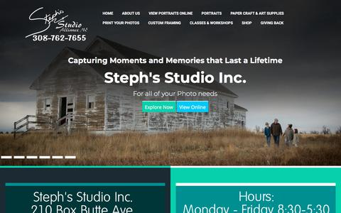Screenshot of Home Page stephsstudio.com - Steph's Studio Inc. - Capturing Moments and Memories that Last a Lifetime - captured Sept. 21, 2018