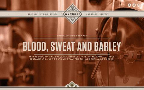 Screenshot of Home Page wynkoop.com - Downtown Denver Brewpub | Wynkoop Brewing - captured Jan. 15, 2016