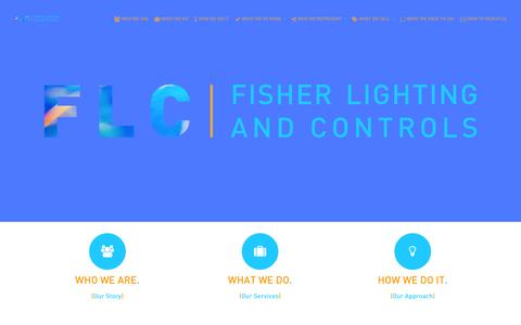 Screenshot of Home Page gfls.com - Home | Fisher Lighting and Controls - captured Oct. 3, 2014