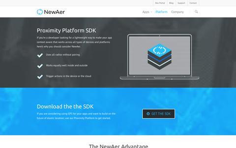 Screenshot of Developers Page newaer.com - SDK |  NewAer - captured Sept. 17, 2014
