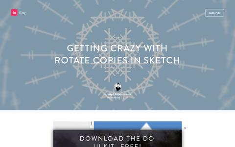 Screenshot of Blog invisionapp.com - Getting crazy with Rotate Copies in Sketch - InVision Blog - captured Dec. 14, 2016