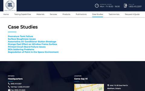 Screenshot of Case Studies Page itlinc.com - Case Studies – ITL Inc - captured Sept. 20, 2018