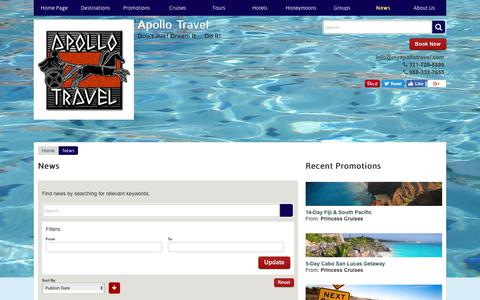 Screenshot of Press Page myapollotravel.com - News | Apollo Travel - captured Oct. 8, 2017