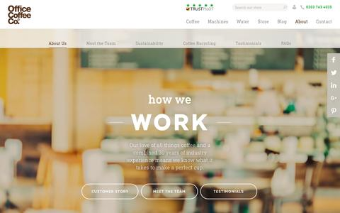 Screenshot of About Page office-coffee.co.uk - How we work | The Office Coffee Company - captured Dec. 6, 2016