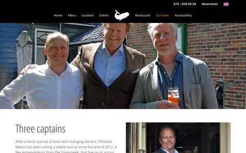 Screenshot of Team Page dewalvis.nl - Our team | D'Swarte Walvis - captured July 5, 2018