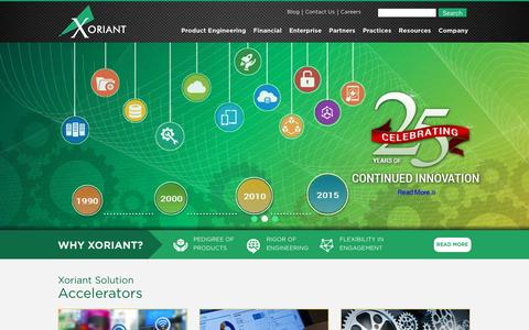 Screenshot of Home Page xoriant.com - Xoriant   Software Product Development Company, Software Life Cycle Development Solutions in USA, Software Consulting Services by Xoriant - captured Jan. 17, 2016
