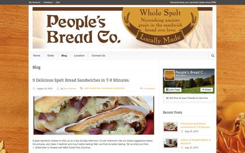 Screenshot of Blog peoplesbakeryma.com - People's Bakery MA  » Blog - captured Jan. 27, 2016