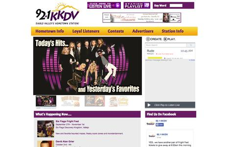 Screenshot of Home Page Privacy Page kkdv.com - Homepage - 92.1 KKDV - captured Oct. 3, 2014