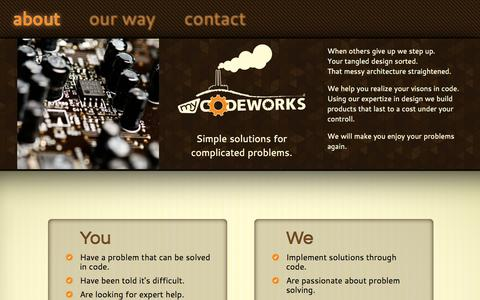 Screenshot of About Page my-codeworks.com - my codeworks - captured Oct. 26, 2014