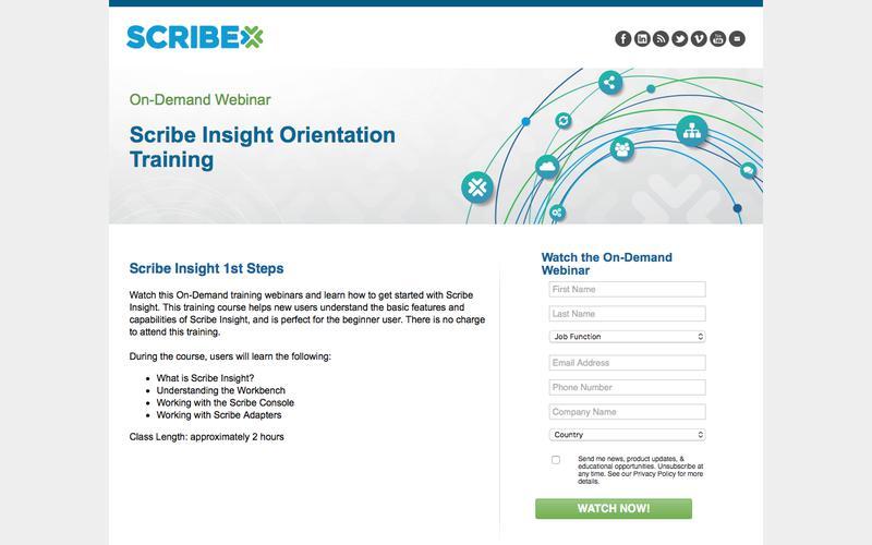 Scribe Insight Orientation Training - On-Demand Webinar
