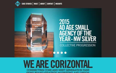 Screenshot of Home Page nemodesign.com - Nemo Design | Brand Strategy, Marketing and Design - captured Nov. 20, 2015