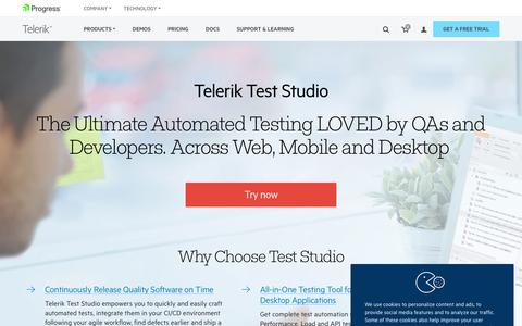 Automated Testing for Web, Mobile and Desktop Apps - Telerik Test Studio