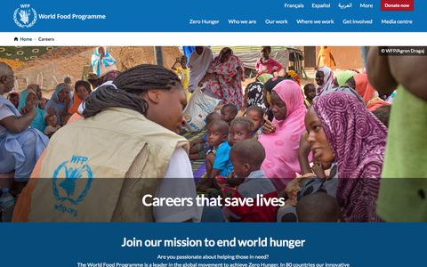 Screenshot of Jobs Page wfp.org - Jobs - captured Aug. 12, 2019