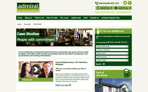Screenshot of Case Studies Page admiraltaverns.co.uk - Pub Landlord Case Studies | Admiral Taverns - captured Sept. 23, 2014