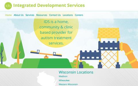 Screenshot of Home Page ids-wi.com - IDS - Home - captured Nov. 27, 2016