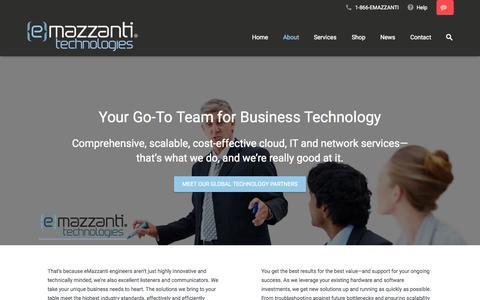 Screenshot of About Page emazzanti.net - About - eMazzanti Technologies - captured Nov. 19, 2015