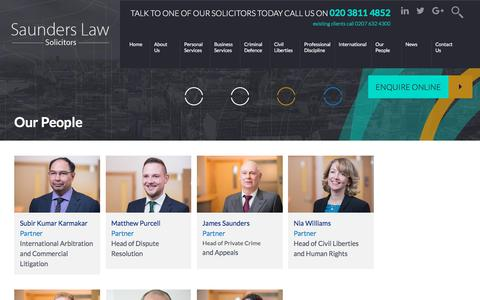 Screenshot of Team Page saunders.co.uk - Our People - Saunders Law - captured Oct. 6, 2017