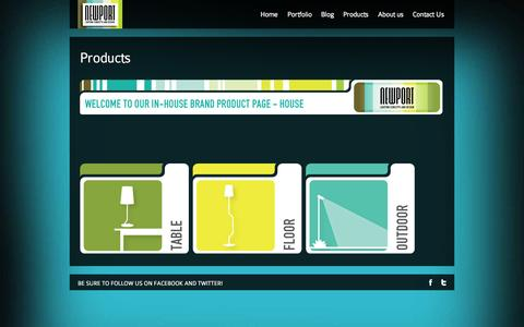 Screenshot of Products Page newport.co.za - Newport Lighting   Products - captured Oct. 26, 2014