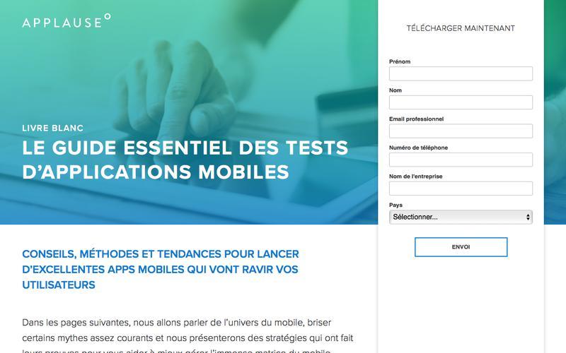 Livre blanc: le guide essentiel des tests d'applications mobiles