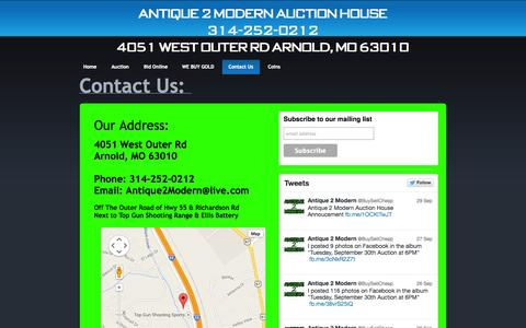 Screenshot of Contact Page buysellcheap.com - Antique 2 Modern Resale Shop - captured Oct. 4, 2014
