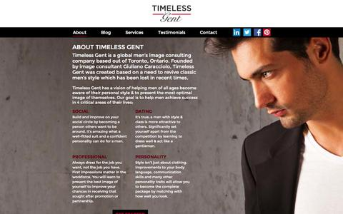 Screenshot of About Page timelessgent.com - Timeless Gent - captured Oct. 7, 2014