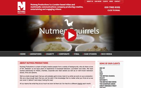 Screenshot of About Page nutmegproductions.co.uk - Video Production London, Charity videos   Nutmeg Productions   Video Production London - captured Sept. 30, 2014