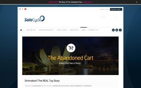 Screenshot of Blog salecycle.com - The Abandoned Cart - captured Sept. 18, 2014