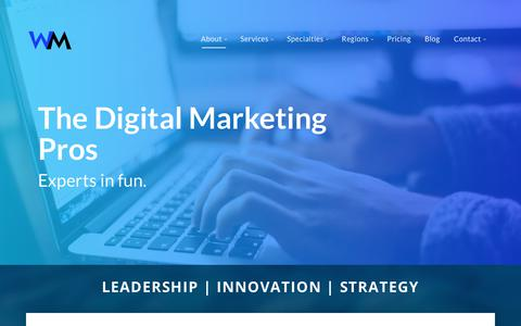 Screenshot of Team Page webmarketsonline.com - Online Marketing Professionals at WebMarkets | Boise Portland Marketing - captured Oct. 18, 2018
