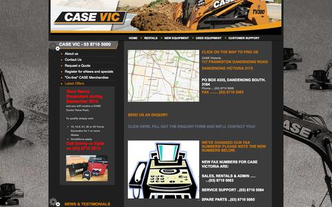 Screenshot of Contact Page casevic.com.au - Contact Us | CASE Victoria - captured Oct. 1, 2014