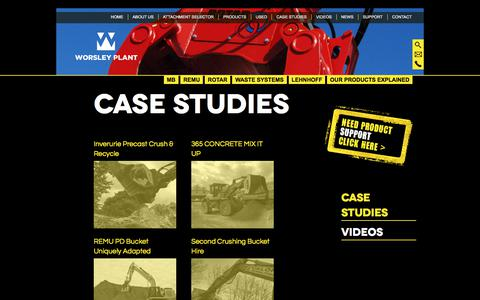 Screenshot of Case Studies Page worsleyplant.co.uk - Case Studies from Materials Handling to Recycling - captured June 19, 2017