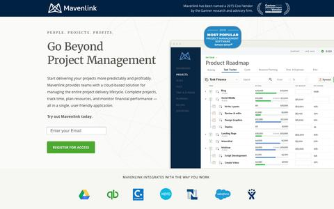 Screenshot of Landing Page mavenlink.com - Mavenlink Product Tour - captured June 11, 2016