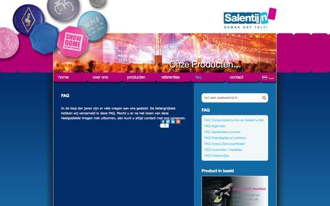 Screenshot of FAQ Page salentijn.com - FAQ - Salentijn BV - captured Oct. 4, 2014