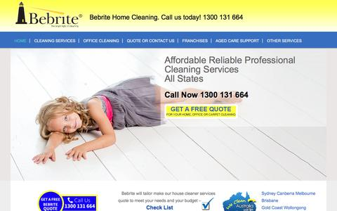 Screenshot of Home Page bebrite.com.au - House Cleaning Services   Carpet Cleaning   Window Cleaning   Home Cleaning   Bebrite - captured Oct. 10, 2017