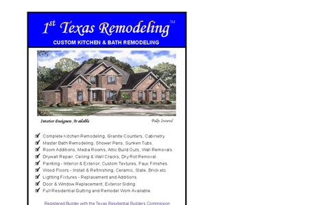 Screenshot of Home Page remodelingtexas.biz - 1st Texas Remodel - captured Oct. 7, 2014