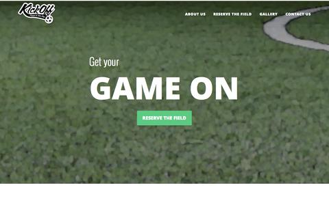Screenshot of Home Page koifc.com - KICK-OFF! - captured Oct. 6, 2014