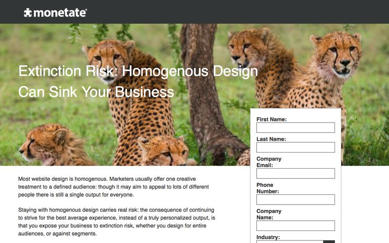 Extinction Risk: Homogenous Design Can Sink Your Business | Whitepaper from Monetate