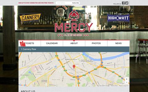 Screenshot of Maps & Directions Page mercylounge.com - Directions - Mercy Lounge - captured July 23, 2016