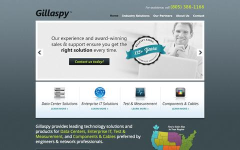 Screenshot of Home Page gillaspysales.com - Gillaspy Associates - captured Oct. 2, 2014