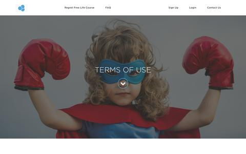 Screenshot of Terms Page regretfreelife.net - Terms of Use - captured Oct. 20, 2018