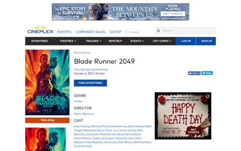 Cineplex.com | Blade Runner 2049