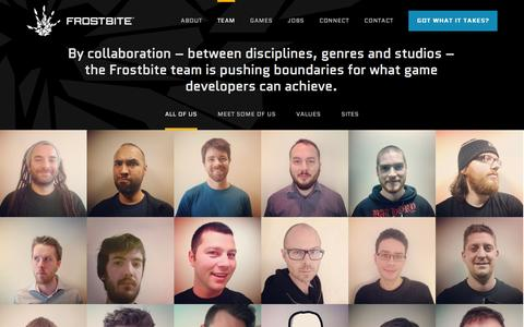 Screenshot of Team Page frostbite.com - Our team of game developers - Frostbite - captured Sept. 19, 2014