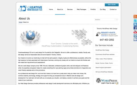 About Us | Creative Web Design 123 | WordPress Web Design | Toronto
