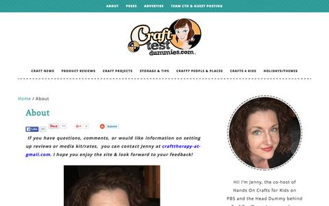 Screenshot of About Page crafttestdummies.com - About - captured Dec. 13, 2015