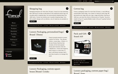 Screenshot of Blog theluxurypackaging.com - Blog | The Luxury Packaging - captured Oct. 6, 2014