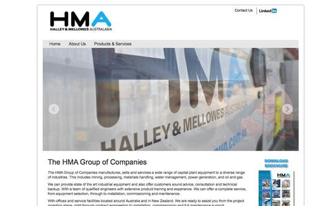 Screenshot of Home Page hmagrp.com - HMA Group : Halley & Mellowes Australasia - captured Oct. 1, 2014