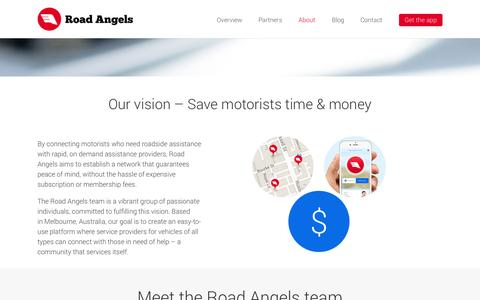 Screenshot of roadangels.com.au - About Our Team | Road Angels - captured Oct. 3, 2015