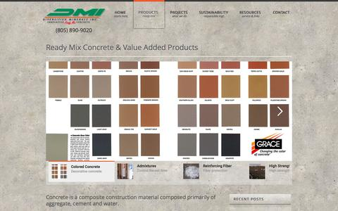 Screenshot of Products Page dmireadymix.com - PRODUCTS – Dmireadymix - captured Jan. 26, 2017