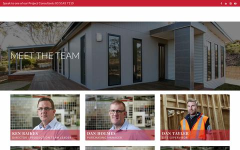 Screenshot of Team Page anchorhomes.com.au - The team behind your prefab building process - Anchor Homes - captured Nov. 6, 2018