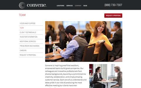 Screenshot of Team Page convene.com - Team | Convene - captured Sept. 13, 2014